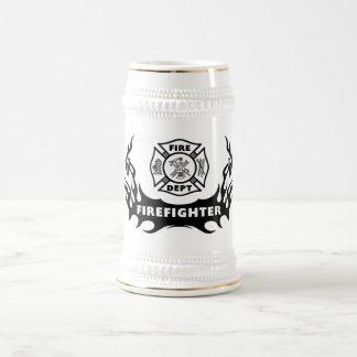 Firefighter Tattoo Beer Stein