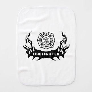 Firefighter Tattoo Burp Cloth