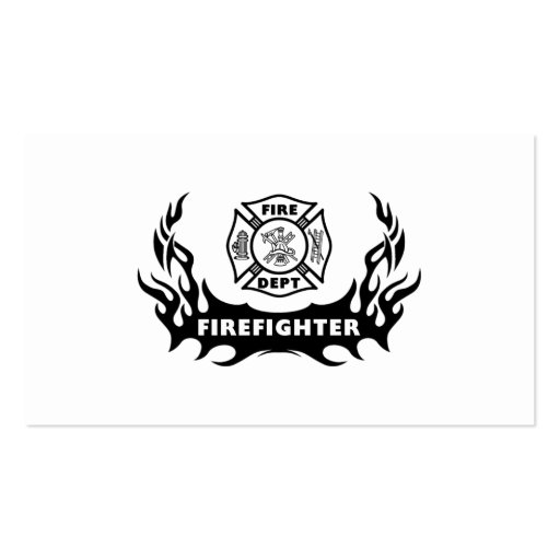 Firefighter tattoo business card zazzle for Business card size tattoos