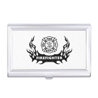 Personalized business card holders for Firefighters, EMT's and Fire Chiefs