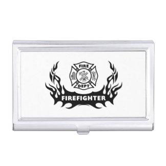 Firefighter Tattoo Business Card Holder