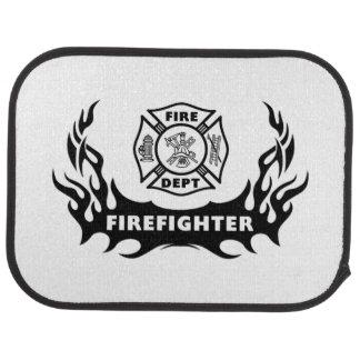 Firefighter Tattoo Car Mat