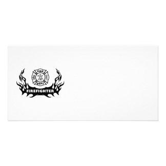 Firefighter Tattoo Card