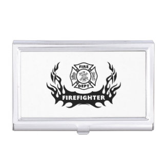 Firefighter Tattoo Case For Business Cards