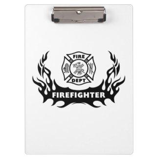 Firefighter Tattoo Clipboard