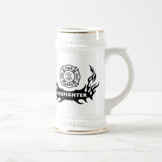 Firefighter Tattoo Coffee Mugs