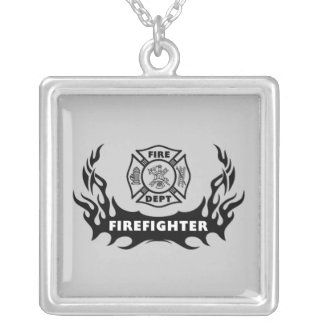 Firefighter Tattoo Necklace