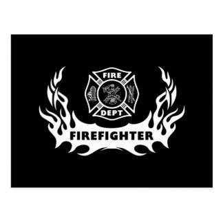Firefighter Tattoo Postcard