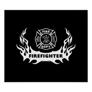 Firefighter Tattoo Posters