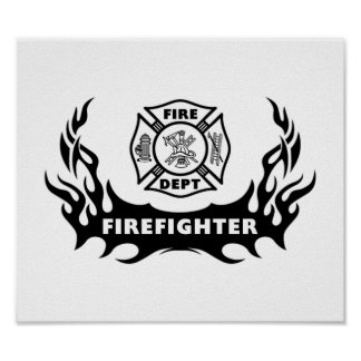 Firefighter Tattoo Print