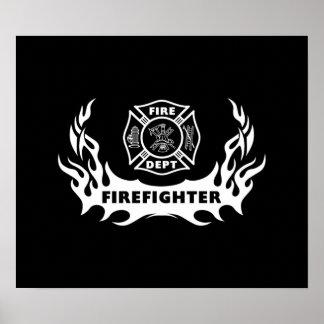 Firefighter Tattoo Poster