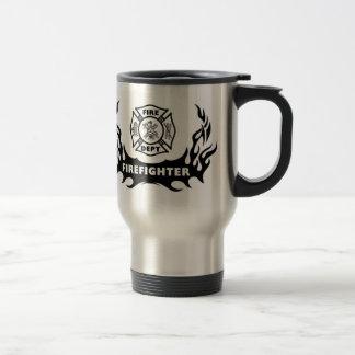 Firefighter Tattoo Travel Mug
