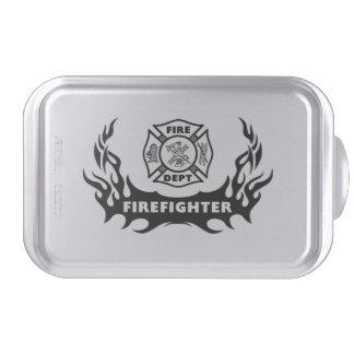 Firefighter Tattoos Cake Pan