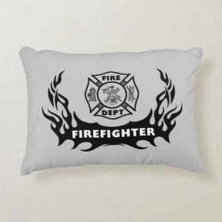 Firefighter Tattoos Decorative Pillow