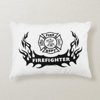Firefighter Tattoos Accent Pillow