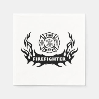 Firefighter Tattoos Napkin