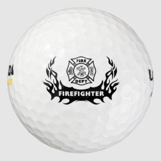 Firefighter Tattoos Pack Of Golf Balls
