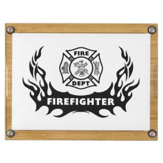 Firefighter Tattoos Rectangular Cheeseboard