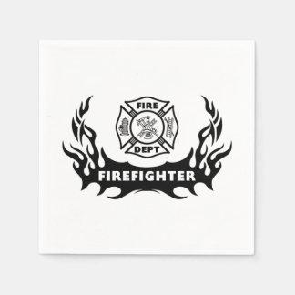 Firefighter Tattoos Standard Cocktail Napkin