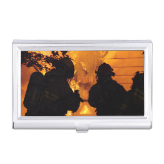Firefighter Team Case For Business Cards