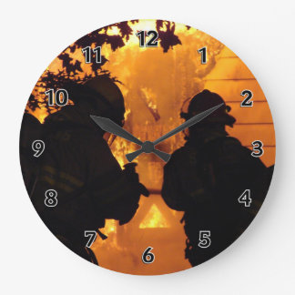 Firefighter Team Large Clock