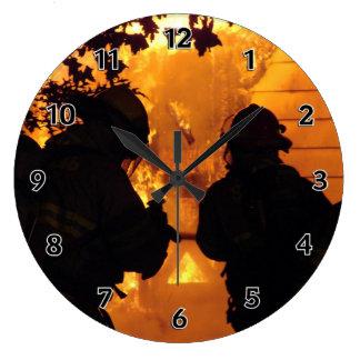 Firefighter Team Large Clock
