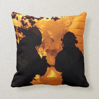 Firefighter Team Throw Pillow