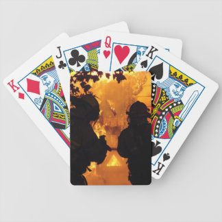 Firefighter Team Bicycle Playing Cards