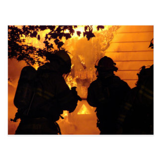 Firefighter Team Post Card