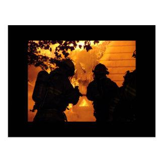 Firefighter Team Postcard