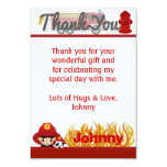 """FIREFIGHTER Thank You 3.5""""x5"""" (FLAT style) FF01B Card"""