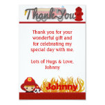 """FIREFIGHTER Thank You 3.5""""x5"""" (FLAT style) FF01D 3.5x5 Paper Invitation Card"""