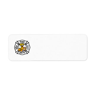 Firefighter Thanksgiving Logos Label