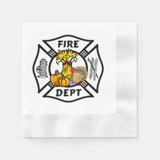 Firefighter Thanksgiving Napkin