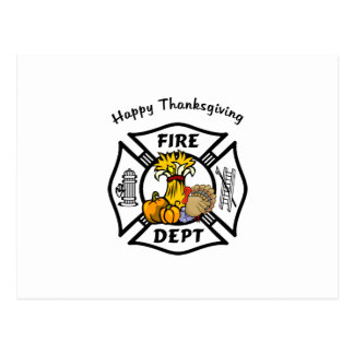 Firefighter Thanksgiving Postcard