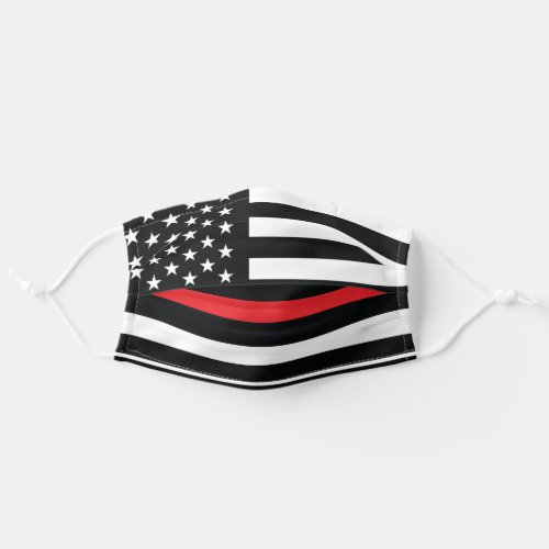 Firefighter Thin Red Line American Flag Fireman Cloth Face Mask