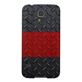Firefighter Thin Red Line Diamond Plate Case For Galaxy S5