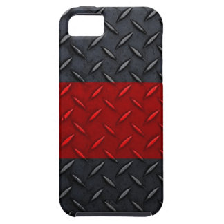 Firefighter Thin Red Line Diamond Plate iPhone SE/5/5s Case