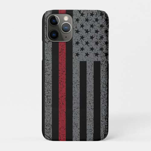 FireFighter Thin Red Line Flag Phone Case