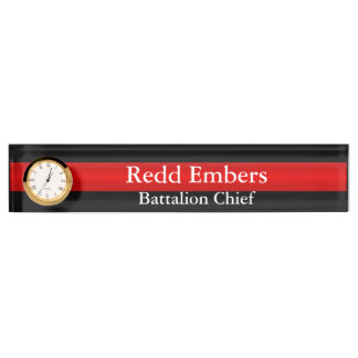 Firefighter Thin Red Line Nameplate