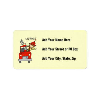 Firefighter to the Rescue T-shirts and Gifts Address Label