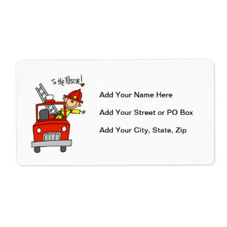 Firefighter to the Rescue T-shirts and Gifts Shipping Label