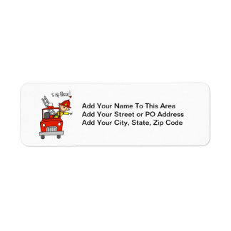Firefighter to the Rescue T-shirts and Gifts Return Address Label