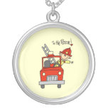 Firefighter to the Rescue T-shirts and Gifts Pendants