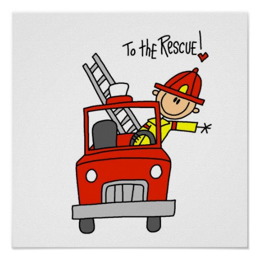 Firefighter to the Rescue T-shirts and Gifts Poster