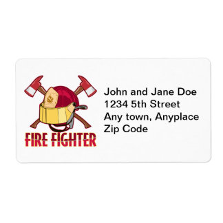 Firefighter Tribute Shipping Label