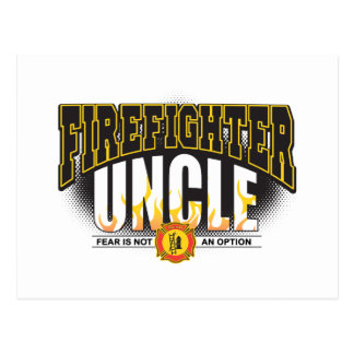 Firefighter Uncle Postcard