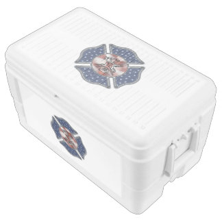 Firefighter USA Patriotic Ice Chest