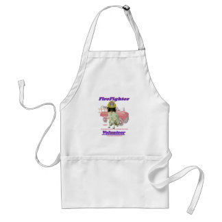 FireFighter Volunteer Lady Adult Apron