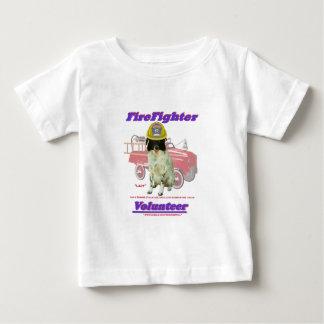 FireFighter Volunteer Lady Baby T-Shirt